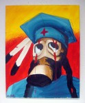 "Artist: Bunky Echo-Hawk (Pawnee and Yakima) ""Untitled"" 29½"" x 24"" Value:$2,600.00"