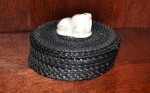 Artist: Joe Sikvayugak Basket With Ivory Walrus (Eskimo) Value: $3,500