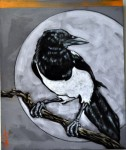 "Artist: Nocona Burgess (Comanche) Full Moon Magpie 20"" x 24"" Value: $2,300"