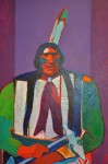 "Artist: John Nieto ""Grey Eagle"" 1991 41½"" x 45½"" Value: $16,000"