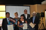 Reception Honorees: Governor Vincent Toya (Jemez Pueblo), Cate Stetson, JoAnn Melchor (SW Youth Services), Chairman Ernie Stevens (NIGA) and Sam Deloria (AIGC)