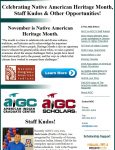 Celebrating Native American Heritage Month, Staff Kudos & Other Opportunities!