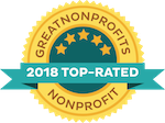 Great Nonprofits 2018 Top-Rated badge